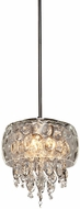 Artcraft AC443 Malibu Chrome Halogen Mini Drop Ceiling Light Fixture