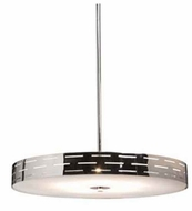 Artcraft AC6001 Seattle Small Halogen Contemporary Style Pendant Light with Chrome