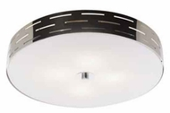 Artcraft AC6004 Seattle Small Halogen Modern Flush-Mount Ceiling Light with Chrome