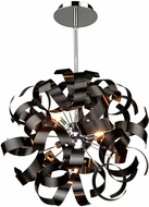 Artcraft AC600BK Bel Air Contemporary Black Halogen 18  Pendant Light