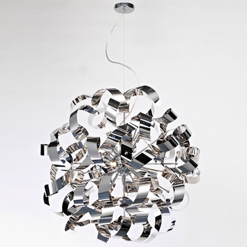Artcraft AC601CH Bel Air Modern Chrome Halogen 24  Pendant Light Fixture