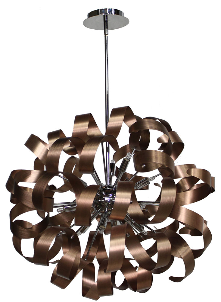 Artcraft ac601co bel air contemporary brushed copper chrome artcraft ac601co bel air contemporary brushed copper chrome halogen 24nbsp pendant lighting fixture loading zoom aloadofball Images