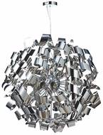 Artcraft AC602CH Bel Air Modern Chrome Halogen 34  Pendant Hanging Light