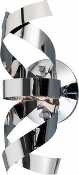 Artcraft AC603CH Bel Air Modern Chrome Halogen Wall Light Sconce