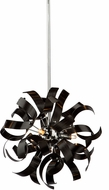 Artcraft AC606BK Belair Contemporary Black Halogen Ceiling Light Pendant