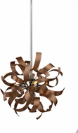 Artcraft AC606CO Belair Modern Brushed Copper & Chrome Halogen Drop Lighting Fixture