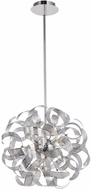 Artcraft AC620CH Bel Air Modern Chrome Mesh Leaves Halogen 18  Ceiling Light Pendant