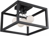 Artcraft AC6600 Massey Modern Matte Black LED Overhead Light Fixture