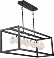 Artcraft AC6603 Massey Contemporary Matte Black LED Kitchen Island Light Fixture