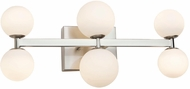 Artcraft AC6616 Hadleigh Contemporary Brushed Nickel LED 6-Light Bathroom Lighting
