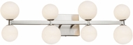 Artcraft AC6618 Hadleigh Modern Brushed Nickel LED 8-Light Lighting For Bathroom