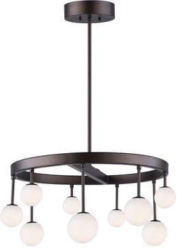 Artcraft AC6621 Melrose Contemporary Bronze LED Chandelier Lamp