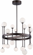 Artcraft AC6623 Melrose Contemporary Bronze LED Chandelier Light