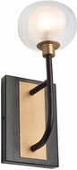 Artcraft AC7001BG Grappolo Contemporary Matte Black & Vintage Gold LED Wall Sconce Lighting