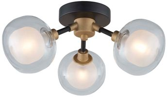 Artcraft AC7003BG Grappolo Contemporary Matte Black & Vintage Gold LED Ceiling Lighting
