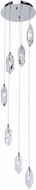 Artcraft AC7047 Doccia Chrome LED Multi Ceiling Light Pendant