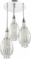 Artcraft AC706 Omni Chrome Halogen Multi Pendant Lighting