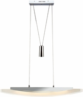 Artcraft AC7065 Pendulum Modern Chrome LED Kitchen Island Light Fixture