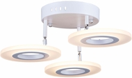 Artcraft AC7068 Phoenix Modern White LED Ceiling Light Fixture