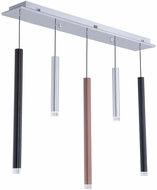 Artcraft AC7085MU Galiano Modern Black / Copper / Satin Aluminum LED Multi Pendant Lamp