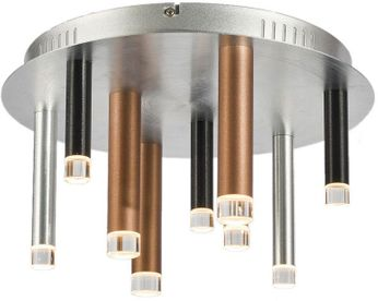 Artcraft AC7089MU Galiano Modern Black / Copper / Satin Aluminum LED Ceiling Lighting Fixture