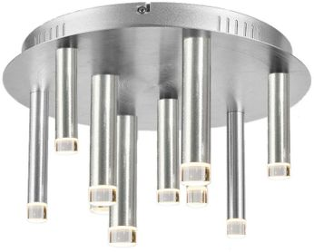 Artcraft AC7089SA Galiano Contemporary Satin Aluminum LED Ceiling Light Fixture