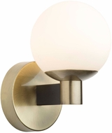 Artcraft AC7091VB Tilbury Contemporary Matte Black & Brass LED Wall Lighting Fixture