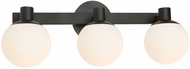 Artcraft AC7093BK Tilbury Modern Semi Gloss Black LED 3-Light Bath Lighting