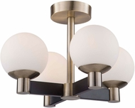 Artcraft AC7095VB Tilbury Modern Matte Black & Brass LED Flush Lighting