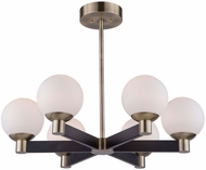 Artcraft AC7096VB Tilbury Contemporary Matte Black & Brass LED Chandelier Light