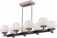 Artcraft AC7098VB Tilbury Modern Matte Black & Brass LED Island Lighting