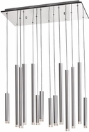 Artcraft AC7099SA Galiano Modern Satin Aluminum LED Multi Pendant Light Fixture