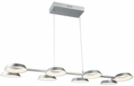 Artcraft AC7171SN Leith Modern Silver LED Island Lighting