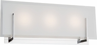 Artcraft AC7203CH Kingsley Modern Chrome LED 3-Light Bath Light Fixture