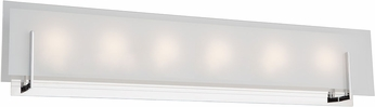 Artcraft AC7206CH Kingsley Modern Chrome LED 6-Light Bathroom Light Fixture