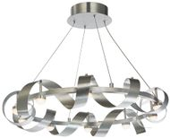 Artcraft AC7211BA Rolling Hills Contemporary Brushed Aluminum LED Hanging Chandelier