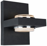 Artcraft AC7232BK Cruz Contemporary Matte Black LED Outdoor Wall Light Sconce