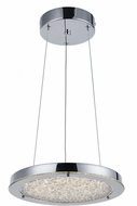 Artcraft AC7312CH Stardust Chrome LED 12  Pendant Lighting