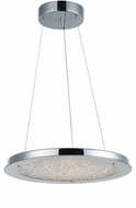 Artcraft AC7313CH Stardust Chrome LED 16  Pendant Light