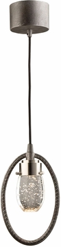 Artcraft AC7451 Kingsford Contemporary Slate & Brushed Nickel LED Mini Drop Ceiling Light Fixture