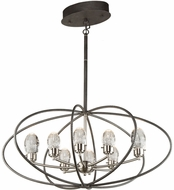 Artcraft AC7458 Kingsford Modern Slate & Brushed Nickel LED Chandelier Lighting