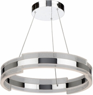 Artcraft AC7470CH Saturn Contemporary Chrome & Clear LED 20  Drop Lighting Fixture