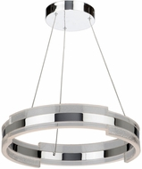 Artcraft AC7471CH Saturn Modern Chrome & Clear LED 24  Pendant Lighting
