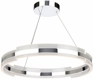 Artcraft AC7472CH Saturn Contemporary Chrome & Clear LED 28  Pendant Light