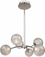 Artcraft AC7486CH Nightstar Modern Chrome LED 26  Lighting Chandelier