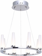 Artcraft AC7510 Briar Modern Chrome LED Mini Chandelier Lighting
