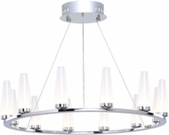 Artcraft AC7511 Briar Contemporary Chrome LED Lighting Chandelier