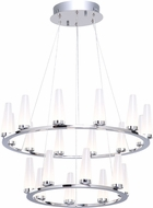 Artcraft AC7514 Briar Modern Chrome LED Chandelier Lamp