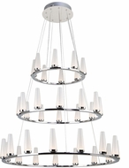 Artcraft AC7515 Briar Contemporary Chrome LED Chandelier Light