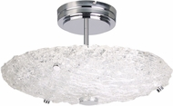 Artcraft AC7520 Genoa Modern Chrome LED Overhead Light Fixture
